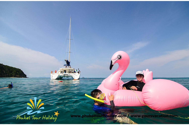 โปรแกรมทัวร์ : ทัวร์เกาะไม้ท่อน เกาะเฮ ด้วยเรือใบ (รอบบ่าย)